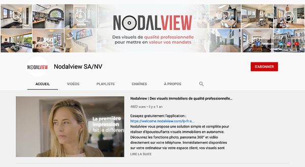 exemple de chaine immobiliere YouTube Nodalview attrayante