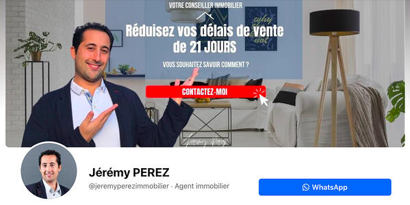 marketing immobilier page Facebook iad