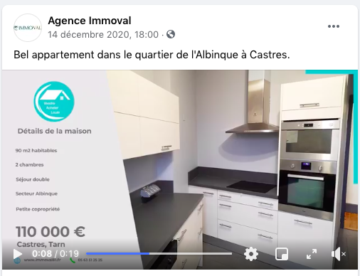 stratégie immobilière page Facebook immoval